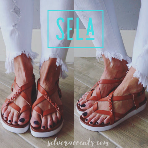 NOT RATED Tan SELA Strappy Platform Sandal Shoe