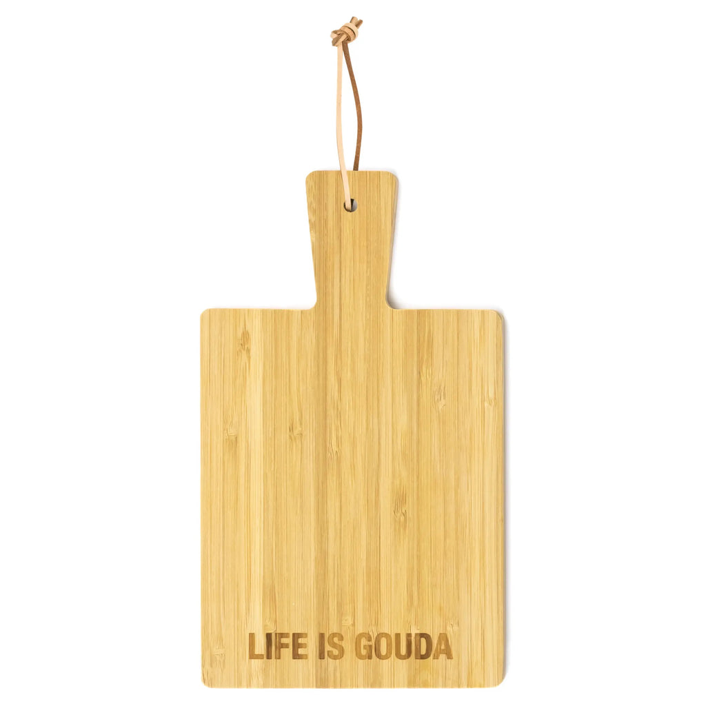 AF LIFE IS GOUDA Bamboo Cheese Board