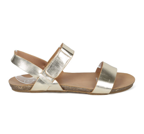 MAJESTIC Metallic Dual Band Champagne Shoes