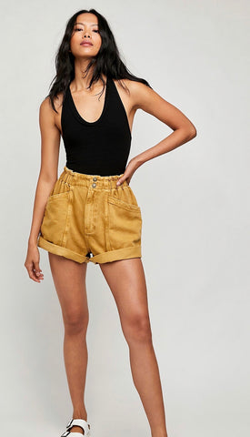 FREE PEOPLE Paper-bag Waist KAUAI NIGHTS Shorts
