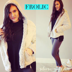 FROLIC SuperSoft Sherpa Zip Hoodie Jacket Top