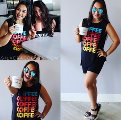 COFFEE X3 Graphic Tank Top