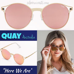 QUAY AUSTRALIA Winged HERE WE ARE Sunglasses