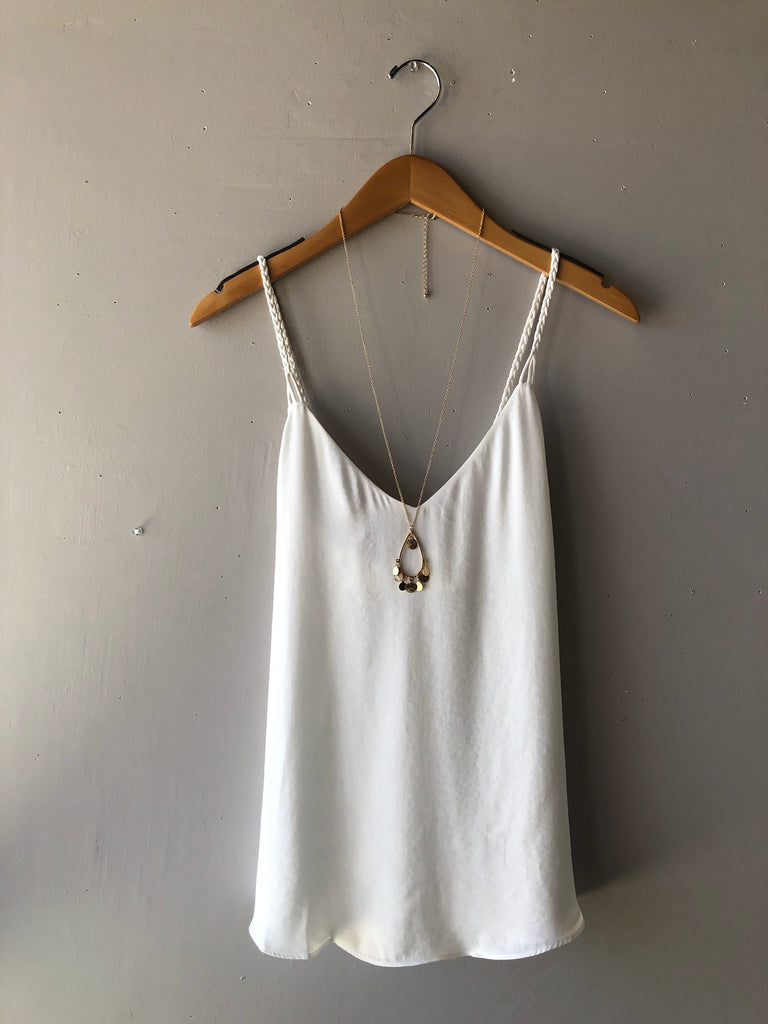 REVERIE Braidstrap Cross Back Tank Top