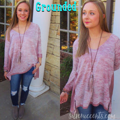 GROUNDED Burnout Asymmetric Tunic Top