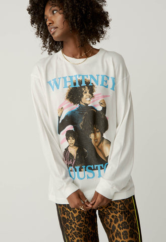 DAYDREAMER Dance With Somebody WHITNEY HOUSTON Long Sleeve Tee Top