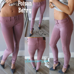 FLYING MONKEY Stretch POISON BERRY Colored Skinny Jeans