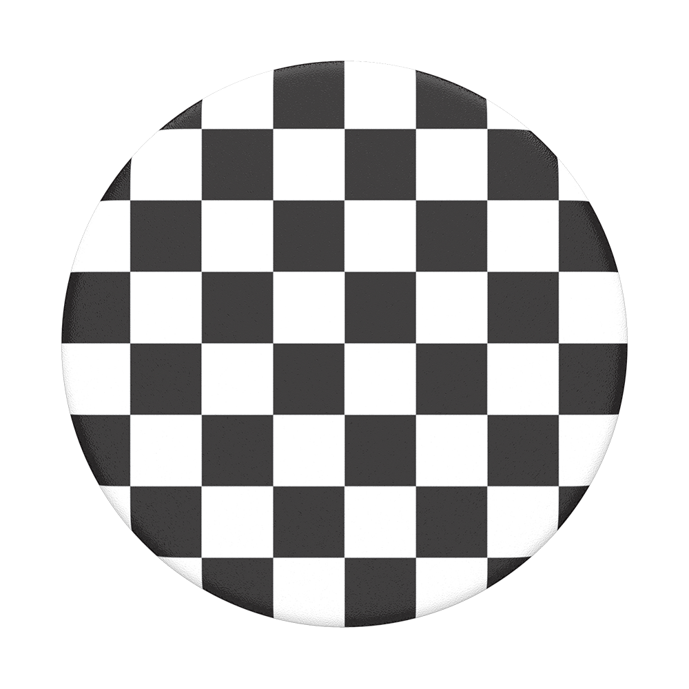 Checker Black POPSOCKET Swappable Top