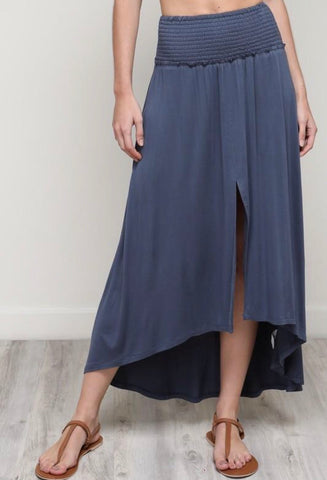 FRESNO Smocked Band Maxi Skirt
