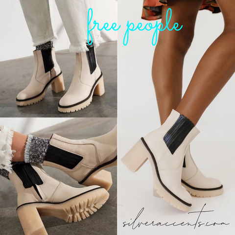 FREE PEOPLE Leather JAMES CHELSEA Boot