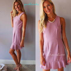 Mauve PARKLANDS RuffleHem Fit&Flare Dress