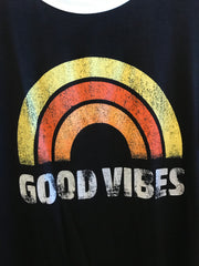 GOOD VIBES Ringer Tee Top
