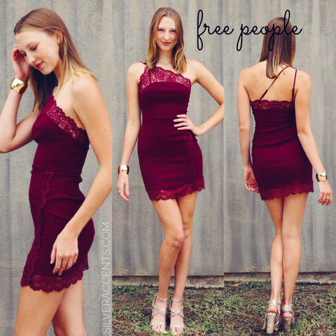 FREE PEOPLE OneShoulder PREMONITIONS Body-con Dress