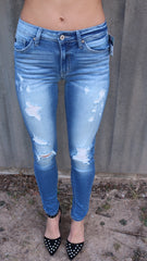 UNLIMITED Distressed Ankle Skinny Jean