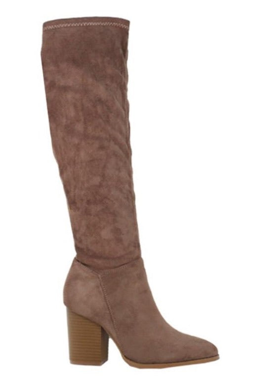 ANGELINA Suede Knee High Sock Boot