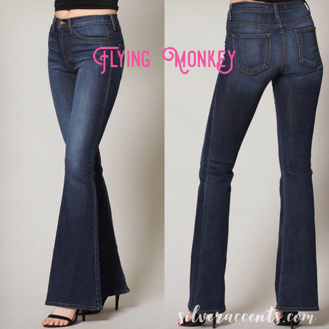 FLYING MONKEY HiWaist Stretch Flare Jean