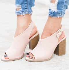 GAUNTLET Sling Back Blush Mule Shoe