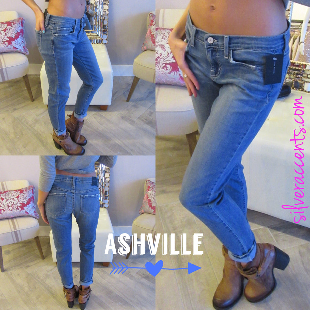 FLYING MONKEY Medium Stonewash ASHVILLE BLUE Boyfriend Jeans