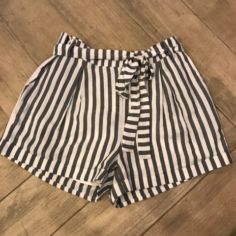 BOOKER Stripe Tie Twist Cuffed Shorts