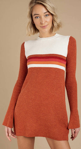 FREE PEOPLE COLOR BLOCK SWIT Mini Dress