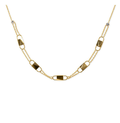 BRACHA Gold LOCK Choker Necklace