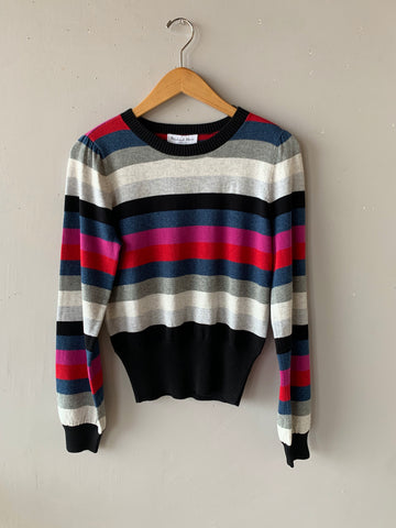 MICHAEL STARS Stripe BELL Sweater Top