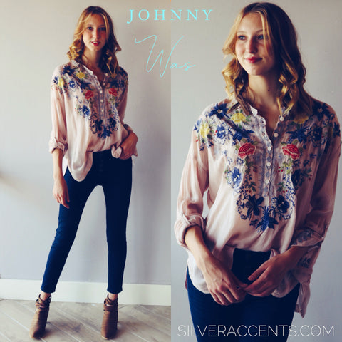JOHNNY WAS Embroidered ODETTE Blouse Top