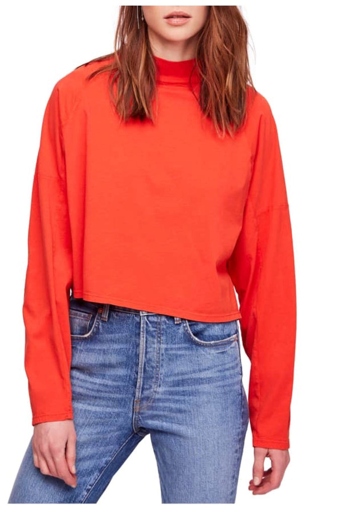 FREE PEOPLE Dolman Sleeve JACKSON HINK Top