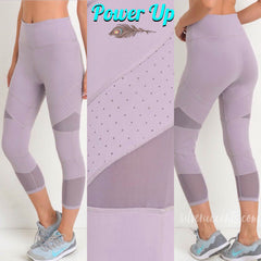 POWER UP Mesh/Perforated Crop Athleisure Legging