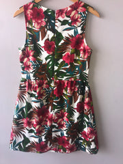 Ivory Multi TROPIC THUNDER Floral Fit & Flare Dress