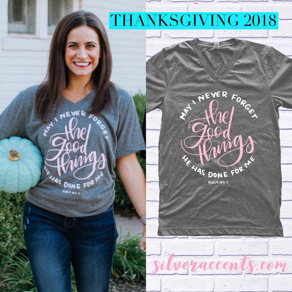 THE GOOD THINGS V-Neck TriBlend Tee Top