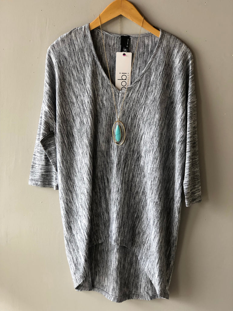 BOBI 3/4 Sleeve CHARTER OAK SpaceDye Top