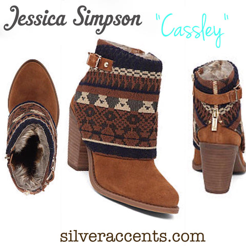 JESSICA SIMPSON Tribal CASSLEY Hooded Ankle Booties