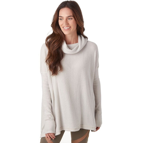 FREE PEOPLE RibKnit JUICY CowlNeck SplitBack Tunic Top