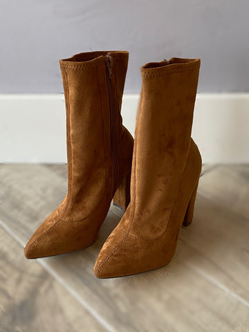 WHITTEN Suede Sock Bootie Shoe
