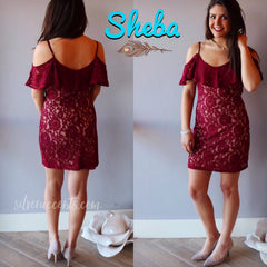 SHEBA Lace ColdShoulder BodyCon Dress