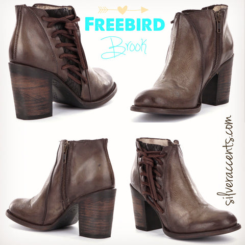 FREEBIRD by STEVEN LaceUp BROOK Booties Shoes
