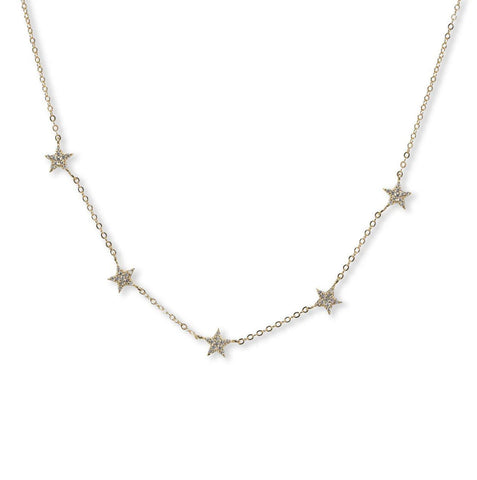 BRACHA Gold SHE'S SUPER STAR Necklace