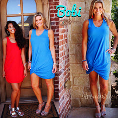 BOBI COLLIDE Bottom Twist Tank Dress