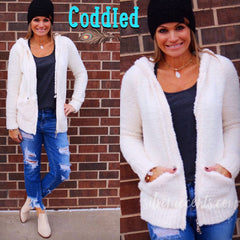 CODDLED Berber Fleece Zip Hoodie Top