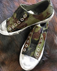 NAUGHTY MONKEY Vintage Distressed SHALOMAR Ponyhair Sneaker Shoe