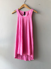 BOBI Slub Jersey TRUE GRIT RawSeam Detail ScoopHem Tank Dress