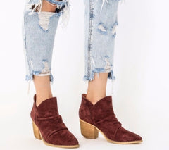 VERONA Rouched SlipOn Cutout Booties Shoes