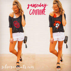 GAMEDAY COUTURE Logo VIBING WITH YOU Boyfriend Tee