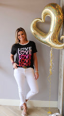 LOVE REPEAT Ringer Tee Top