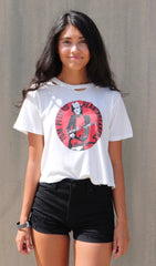 DAYDREAMER Graphic TOM PETTY AND THE HEARTBREAKERS Vintage White TORPEDOS Distressed Tee Top