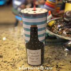 CHANCE OF WINE No Spill Insulated Tumbler