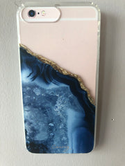 THE CASERY IPhone DARK BLUE AGATE Case