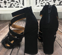 PARIS Strappy BlockHeel Sandal Shoe