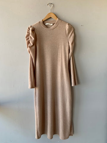PROMENADE Mock Neck Rouched Dress